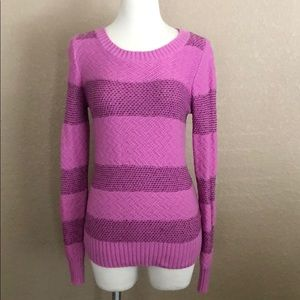 Fossil Pink/Purple Stripe Sweater